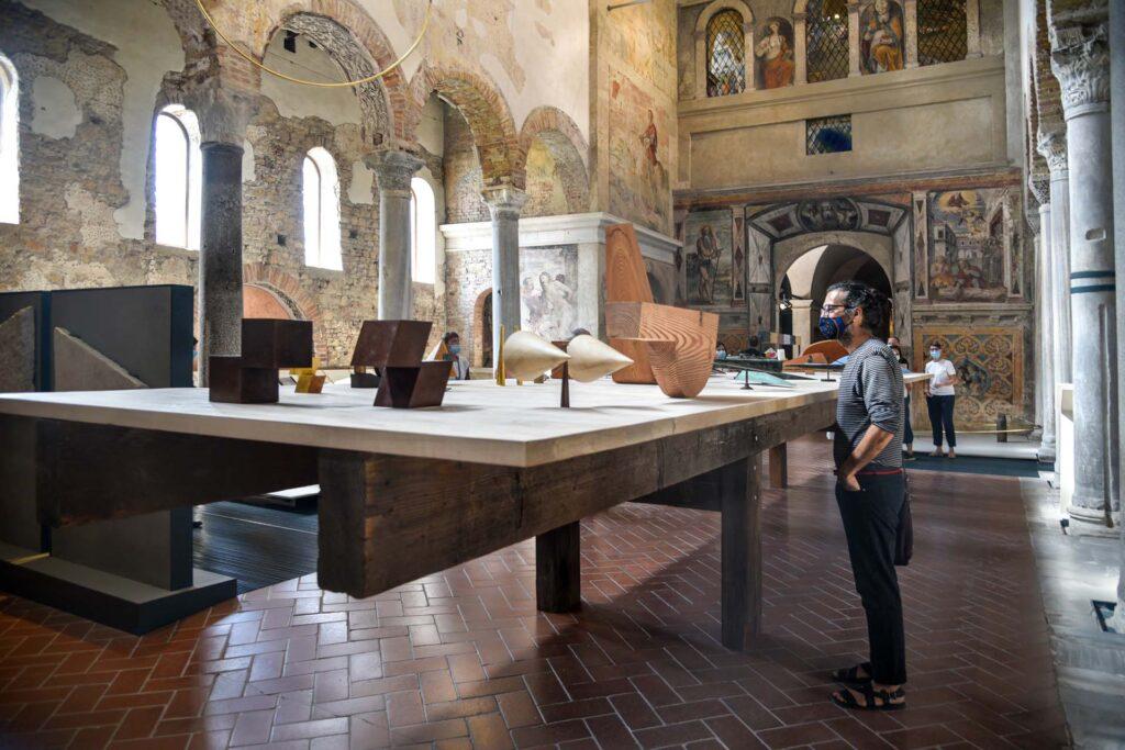 """Juan Navarro Baldeweg. Architecture, Painting, Sculpture, In a field of energy and action"" exhibition at Museo di Santa Giulia, Brescia, 2021"